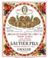 LAUTIER FILS . GRASSE . AROME DE FRAMBOISE - Etiquetas