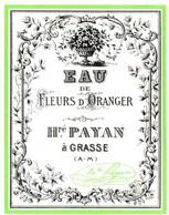HONORE PAYAN . EAU DE FLEURS D'ORANGER - Etiquetas