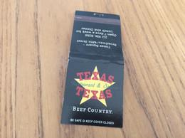 """Pochette D'allumettes *** Etats-Unis """"TEXAS Restaurant & Saloon - RIBS"""" - Matchboxes"""