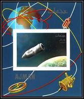 Ajman - 2934b/ N°335 B Vostok Apollo 7 CCCP RUSSIA Espace Space Deluxe Miniature Sheet Neuf ** MNH Non Dentelé Imperf - Asien