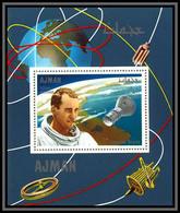 Ajman - 2939/ N°334 A White Usa Astronaut Pilot Espace (space) Deluxe Miniature Sheet Neuf ** MNH - Asien