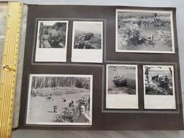 NIM 29170  INDOCHINE - SAIGON ET SA REGION SOUVENIRS D UN LTN DU 2°BATAILLON DU 3°RTM 1948-1951 6 PHOTOS - Zonder Classificatie