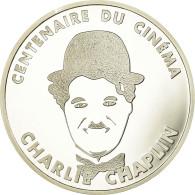 Monnaie, France, Charlie Chaplin, 100 Francs, 1995, BE, FDC, Argent - N. 100 Francos