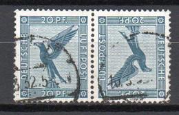 - ALLEMAGNE Poste Aérienne N° 30a Oblitérés - Paire Tête-bêche 20 P. Bleu - Cote 325,00 € - - Airmail