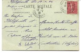 CARTE POSTALE 1923 AVEC CACHET DE PHILIPPEVILLE - CONSTANTINE _ - Lettres & Documents