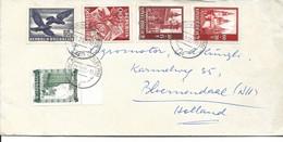 LETTRE POUR LA HOLLANDE 1952 AVEC 5 TIMBRES - 1945-60 Lettres