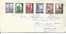 LETTRE POUR LA HOLLANDE 1952 AVEC 6 TIMBRES - 1945-60 Lettres