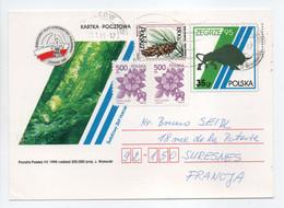 - Carte Postale KRAKOW (Pologne) Pour SURESNES (France) 23.1.1996 - Bel Affranchissement Philatélique - - Brieven En Documenten