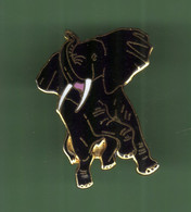 ELEPHANT *** NOIR *** Signe TABLO *** 2114 (15-5) - Animaux