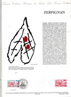 Document Officiel Imprimerie Poste Fdc 1991 Perpignan Signé Goffin - 1990-1999