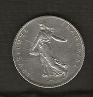 FRANCE /  Pièce De 1 Franc Semeuse Argent 1920  état : TTB - H. 1 Franco