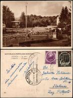 Romania - R.P.R. Sovata, In Parc. Overprint Stamps, Sovata-Bai 1952 - Slatina. - Romania