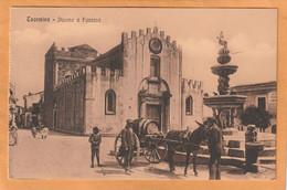 Taormina Italy Old Postcard - Altre Città