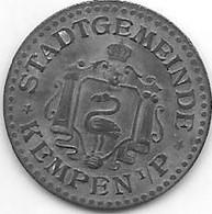 *notgeld Kempen I/p 5 Pfennig  O.j./ND Zn  240.1 - Andere