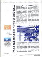 Document Officiel Imprimerie Poste Fdc 1997 Paris Ecole Ponts Et Chaussées Signé Jumelet ? - 1990-1999