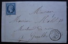 Sorèze Tarn 1860 Pc 2925 Sur N° 14 Belles Marges, Pour Graulhet - 1877-1920: Periodo Semi Moderno