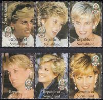 SOMALIA - Diana Spencer (Diana, Princess Of Wales) / Set Of 6 Mint NH Stamps (k5450) - Mujeres Famosas