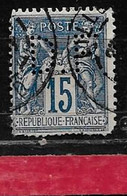 @  Perfin France  Perfore D.F 53   Indice 7 - Gezähnt (Perforiert/Gezähnt)