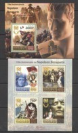 TG1060 2011 TOGO TOGOLAISE FAMOUS PEOPLE ANNIVERSARY NAPOLEON BONAPARTE KB+BL MNH - Napoleón