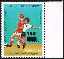 Comores Comoros - Local Overprint - Surcharge Locale 1994/95 - Football Soccer Mexico'86 - Mi 1094 Sc 800Q MNH ** RARE - 1986 – Mexique