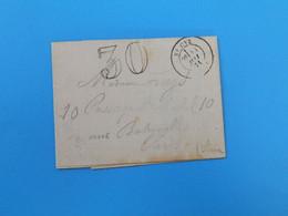 MARQUE POSTALE DE ST CYR A PARIS DU 24 MAI 1871 - 1849-1876: Periodo Classico