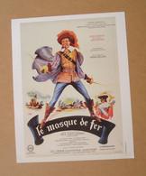 Affiche - Affichette - Poster Le Masque De Fer, Avec Jean Marais, Sylva Koscina De Henri Decoin - D'Artagnan - Posters