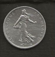 FRANCE /  Pièce De 1 Franc Semeuse Argent 1915  état : TTB - H. 1 Franco