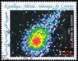 Comores Comoros Komoren - Surcharge Locale Overprint In Red 200 Fc / 300 Fc Bradfield Comet - Cancelled  Mi 1105 - RR - Afrique