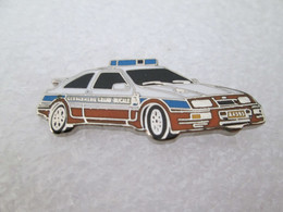TOP  PIN'S FORD SIERRA RS COSWORTH GENDARMERIE LUXEMBOURG Email Grand Feu DEHA - Ford