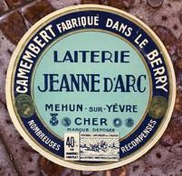 Étiquette Camembert - Laiterie Jeanne D'Arc - Mehun-sur-Yèvre - Quesos