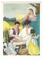 10.588 - LE ASSICURAZIONI D' ITALIA DIREZIONE GENERALE ROMA - DOMENICO PURIFICATO - LA FAMIGLIA - Paintings
