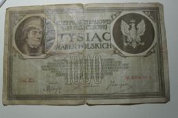 1919 - Pologne - Poland - 1000 MAREK POLSKICH, Ser. ZI.  N° 309859 - Polen