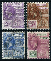 Guayana (Británica) Nº 128/30-132 Usado - Guayana Británica (...-1966)