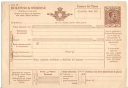 ITALIE ENTIER BULLETIN D'EXPEDITION NEUF ** - Entero Postal