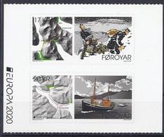Faroer 2020 Europa Percorsi Postali / Dänemark Färöer 2020 Mi-Nr. 881 - 882 Postrouten - Faroe Islands