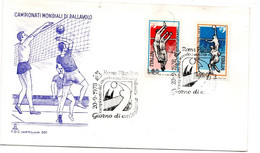 ITALIA FDC - FDC CAPITOLIUM  - CAMPIONATI MONDIALI DI PALLAVOLO  ANNO 1978 - A.S. ROMA FIL - F.D.C.