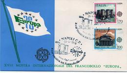 ITALIA FDC - FDC GENERICA  - XVIII MOSTRA IMNTERNAZIONALE FRANCOBOLLO EUROPA - CEPT ANNO 1978 - A.S. NAPOLI - F.D.C.