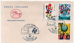 ITALIA FDC - CAVALLINO - XX GIORNATA DEL FRANCOBOLLO - ANNO 1978 - A.S. ROMA EUR - F.D.C.
