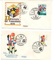 ITALIA FDC - FDC ROMA - XX GIORNATA DEL FRANCOBOLLO - ANNO 1978 - A.S. TARANTO SOLO DUE VALORI - F.D.C.