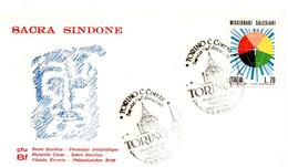 ITALIA FDC - FDC CFU BU - SACRA SINDONE - ANNO 1978 - A.S. TORINO - CON VALORE SALESIANI ' 77 - F.D.C.