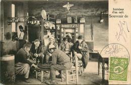 TURQUIE  CONSTANTINOPLE    Intérieur D'un Café - Turkey