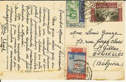 """CP De Tetuan """" Puerta Del Bab-estha """" + Nr 251 , 275 Et 263  Correos Marruecos Protec. 10 , 15 Et 20 Cents - Spanish Morocco"""
