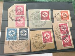 DR - Dienstmarken Auf 6 Briefstücken Mit Verschiedenen SST - Dienstzegels