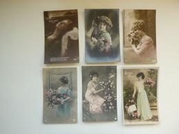 Beau Lot De 60 Cartes Postales De Fantaisie Femmes Femme Mooi Lot Van 60 Postkaarten Fantasie Vrouwen Vrouw - 60 Scans - 5 - 99 Cartoline