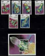 KAMBODSCHA 1990 SPACE  MI No 1177-83+BLOCK 179  MNH VF!! - Asien