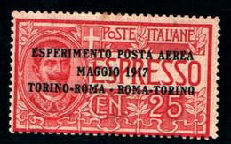20200) ITALIA-Esperimento Di Posta Aerea - Tipo POSTA AEREA - 20 Maggio 1917 -MNH** - Correo Aéreo
