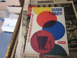 XVIII Olimpijske Igre 10 - 25 X 1964 Tokio Plavi U Tokiju 80 Pages Yugoslavia - Books
