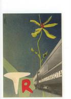 Cartolina Treno Della Rinascita 1953 Non Viaggiata Annullo Meccanico - Reclame
