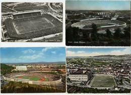 4 Cartoline Stadio Olimpico Roma Campo Sportivo Maddalena Stadion 1957 Viaggiate - Andere