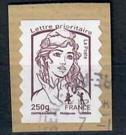 France 2013 YT AA 857  Marianne De Ciappa  LP 250 Gr  Brun-prune S/fragment Cachet Rond - 2013-... Marianne Of Ciappa-Kawena